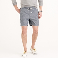 J.Crew Dock Short In Dotted Indigo Chambray