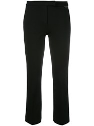 Twin Set Bootcut Cropped Trousers Black
