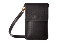 Tory Burch Logo Perforated Phone Crossbody Black Cell Phone Case