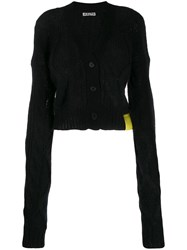 Aalto Cropped Cable Knit Cardigan Black