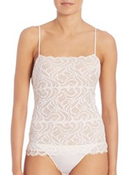 Josie Natori Swirl Stretch Lace Camisole Warm White