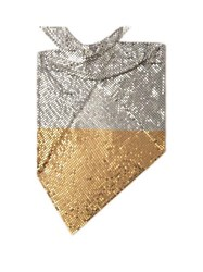 Paco Rabanne Chainmail Mesh Triangle Scarf Gold