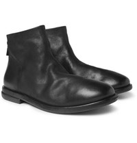 Marsell Stag Leather Chelsea Boots Black