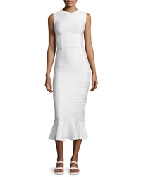 Opening Ceremony Lotus Wavy Stripe Maxi Dress White