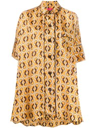 F.R.S For Restless Sleepers Silk Geometric Print Blouse 60