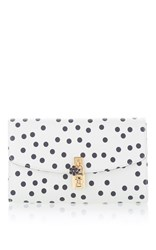 Dolce And Gabbana Polka Dot Clutch White