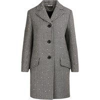 Miu Miu Wool Coat With Sequins Grey