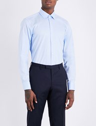 Boss Regular Fit Cotton Shirt Light Pastel Blue