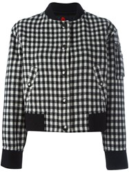 Sonia Rykiel By Gingham Check Bomber Jacket Black