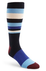 Ted Baker Men's London Striped Socks Navy