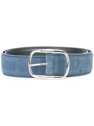 Orciani Suede Buckle Belt Blue