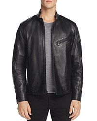 Andrew Marc New York Gibson Leather Moto Jacket Black