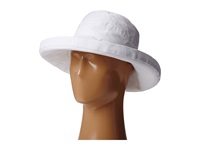 Scala Big Brim Cotton Sun Hat White Caps