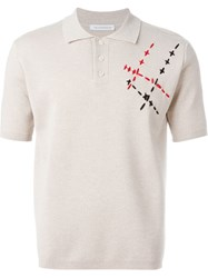 J.W.Anderson J.W. Anderson Stitch Detail Polo Shirt Nude And Neutrals