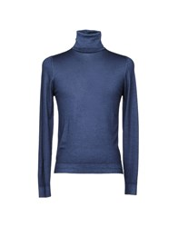 Zanieri Knitwear Turtlenecks Dark Blue