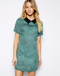Max C London Max C Shift Dress With Collar Green