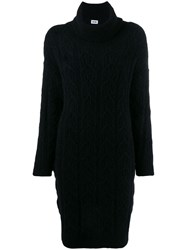 Each X Other Cable Knit Sweater Dress Black