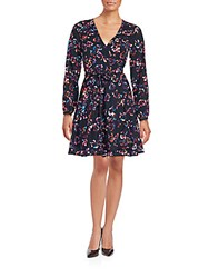 Yumi Kim Printed Long Sleeve Dress Butterfly