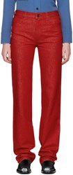Calvin Klein 205W39nyc Red Straight Jeans