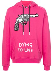 Haculla Dying To Live Patch Hoodie Pink