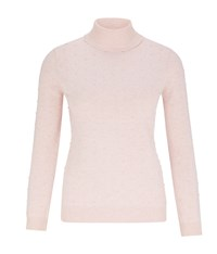 Austin Reed Pink Bobble Roll Neck Jumper