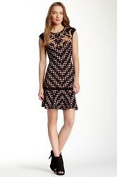 Hale Bob Pattern Sleeveless Sweater Dress Multi