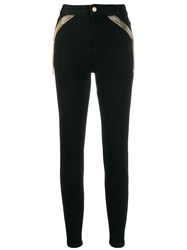 Just Cavalli Chain Embellished Jeans Black