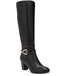 Karen Scott Gaffar Wide Calf Dress Boots Only At Macy's Women's Shoes Black