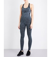 Pepper And Mayne Stretch Jersey Jumpsuit New Denim
