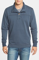 Men's Jeremiah 'Taylor' French Terry Mock Neck Pullover Flood Blue Heather