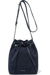 Mansur Gavriel Mini Suede Bucket Bag Navy