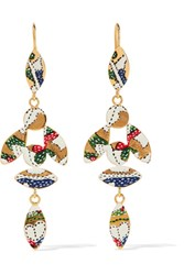 Isabel Marant Gold Tone Resin Earrings One Size