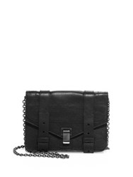 Proenza Schouler Ps1 Leather Chain Wallet Black