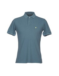 Jaggy Polo Shirts Slate Blue