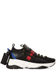 Dsquared D Bumpee 1 Low Top Tech Sneakers Black Red