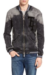 True Religion Men's Brand Jeans Decayed Knit Bomber Jacket