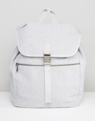 New Look Backpack With Buckle In Gray Gray