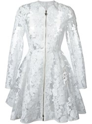 Moncler Gamme Rouge Lace Zipped Coat White