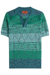 Missoni Patterned Polo Shirt Green