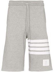 Thom Browne 4 Stripe Jogger Short Grey