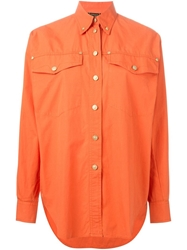 Versace Vintage Button Down Shirt Yellow And Orange