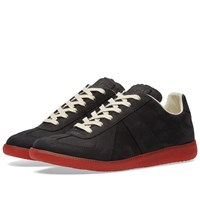 Maison Martin Margiela Maison Margiela 22 Replica Low Red Sole Sneaker Black
