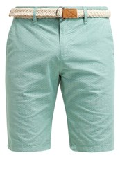 Tom Tailor Denim Shorts Washed Jade Green Mint