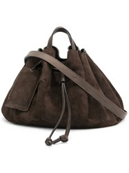 Marsell Ruched Tote Brown
