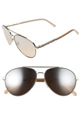 Burberry Women's 58Mm Aviator Sunglasses Silver Mirror Gradient