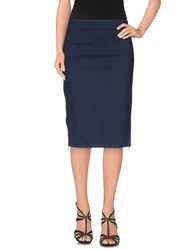 Max And Co. Skirts Knee Length Skirts Women Dark Blue