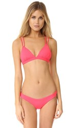 L Space New Wave Bikini Top Hot Cherry