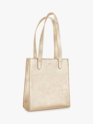 Jaeger Metallic Jennifer Leather Tote Bag Gold
