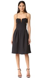 Kendall Kylie Box Pleat Cami Dress Black