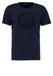 Abercrombie And Fitch Print Tshirt Navy Dark Blue